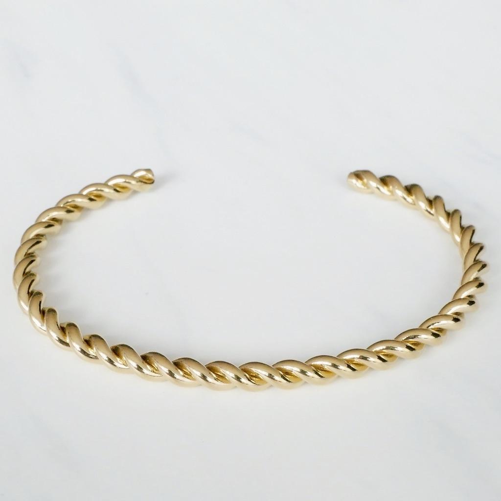 Braided Armreif Gold