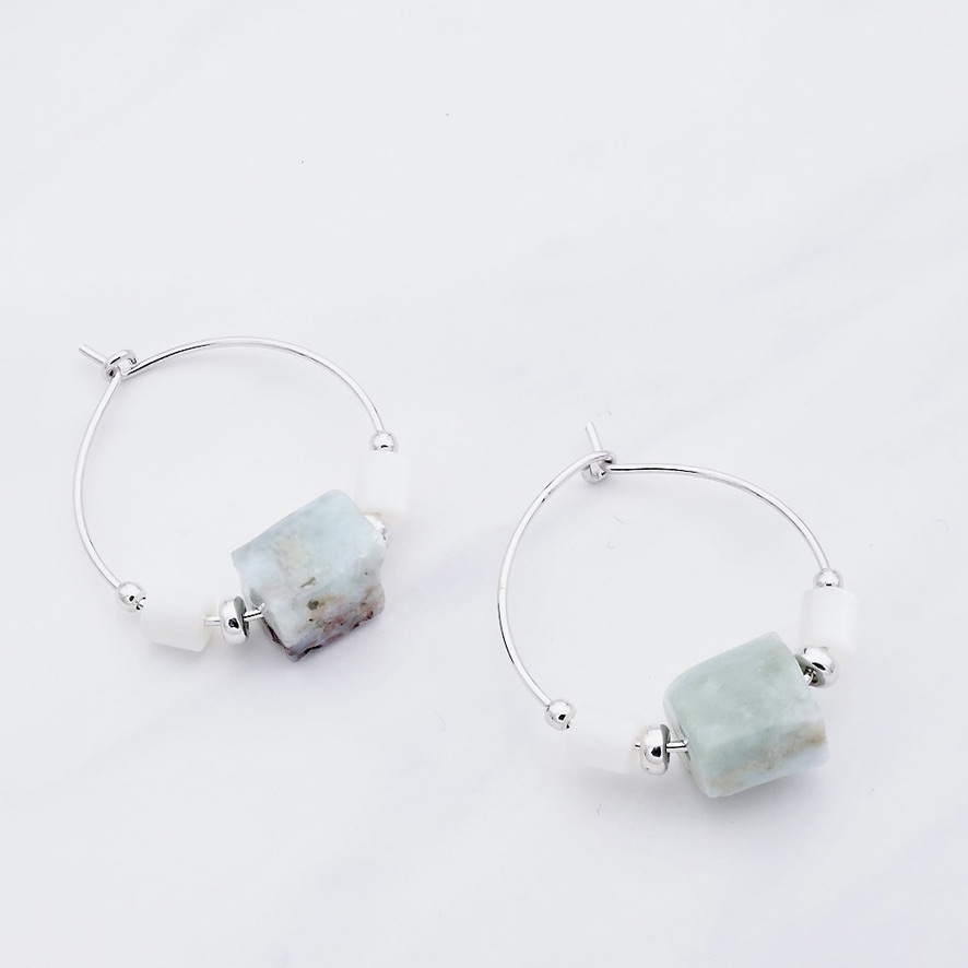 Larimar Ohrring Silber
