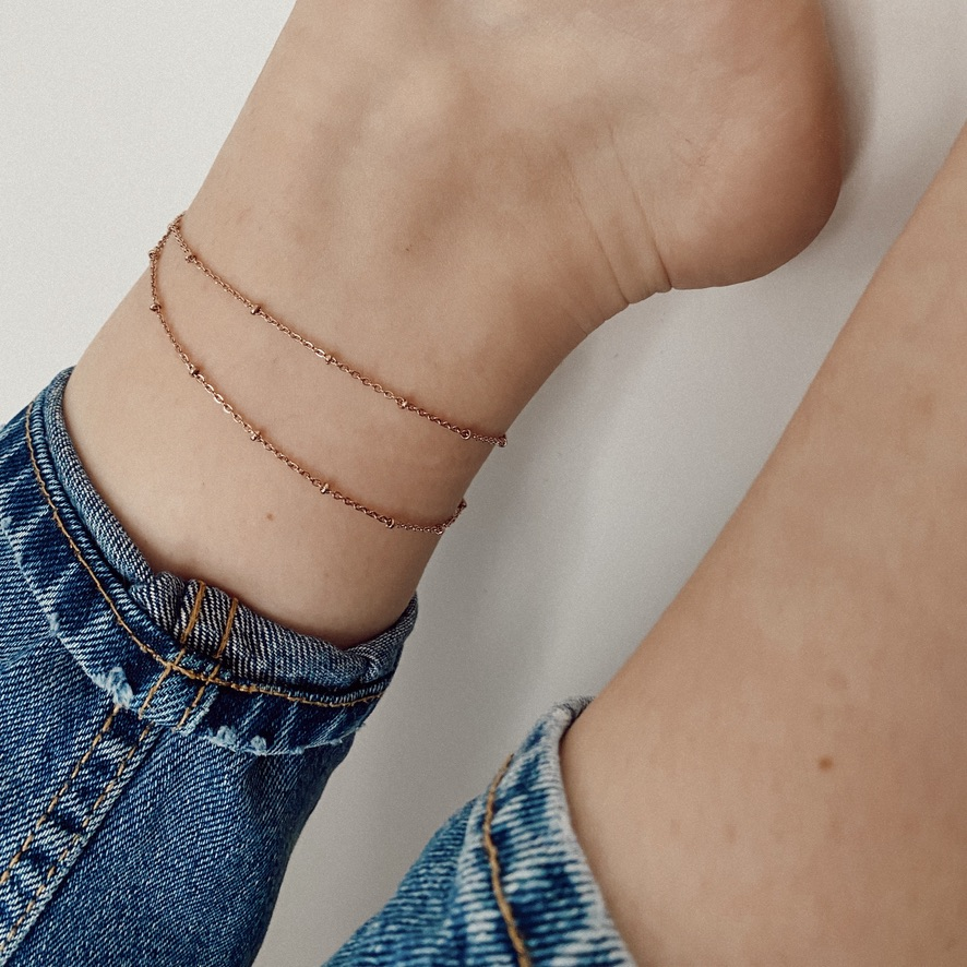 Leni Fußkette Rosé