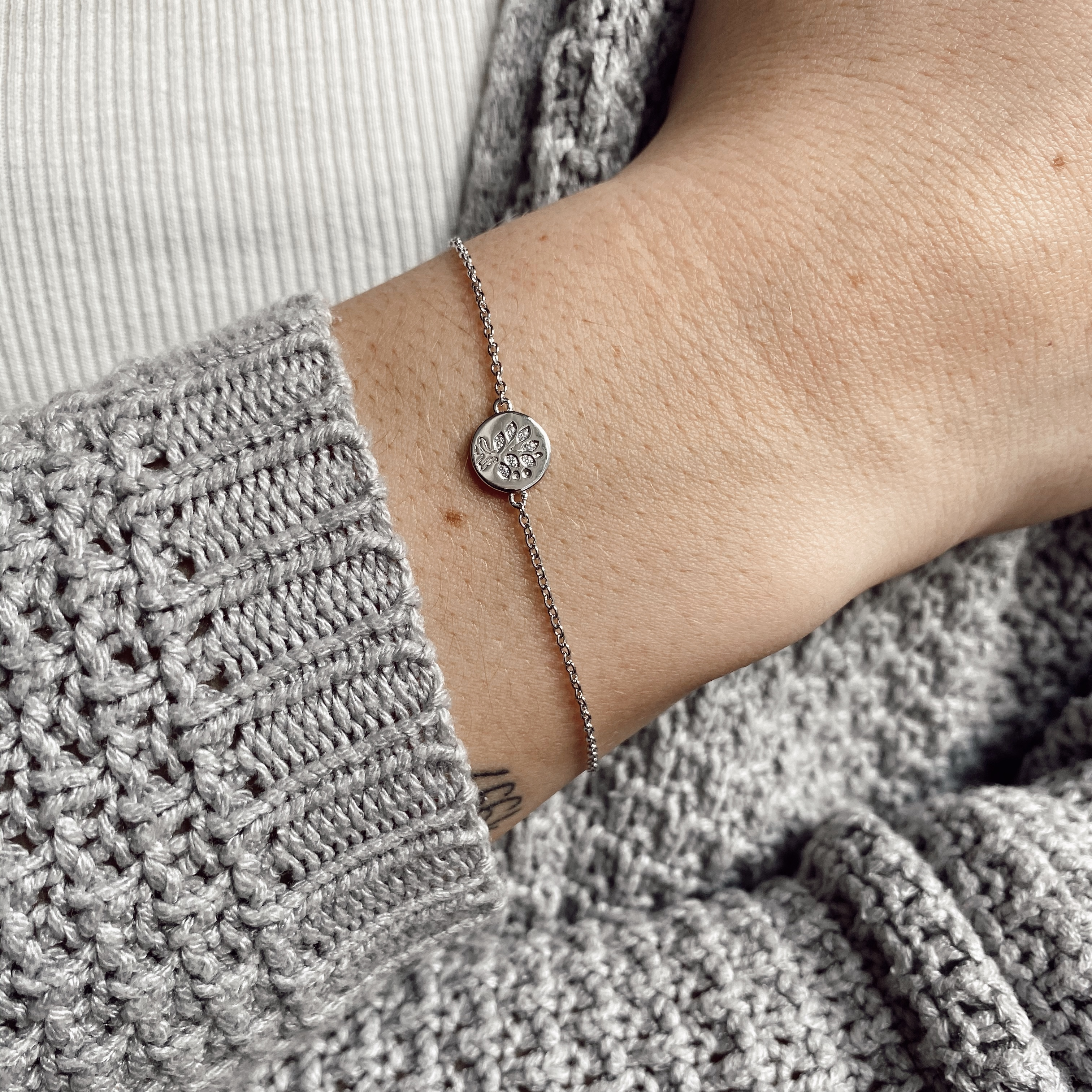 Lebensbaum Armband Silber