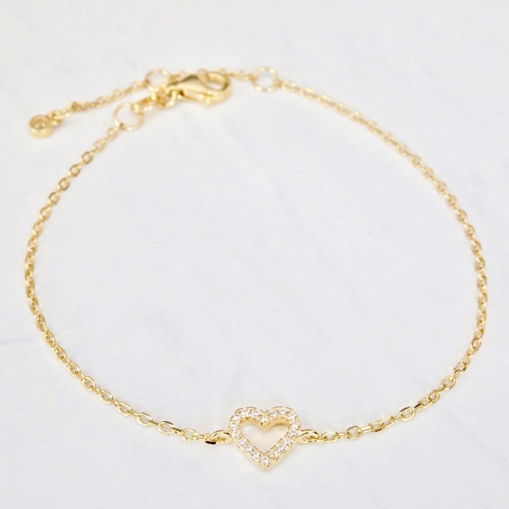 Herz Armband Gold