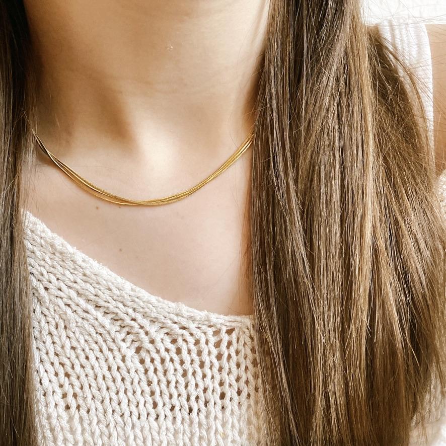 Vicky Halskette Gold