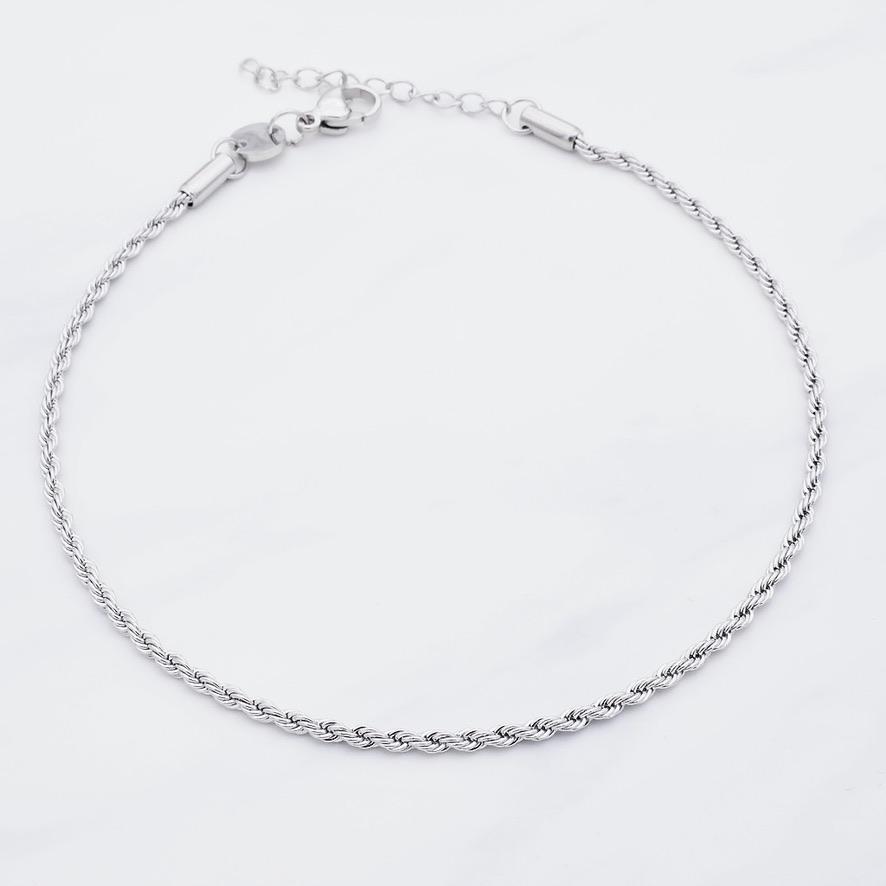 Ana Fußkette Silber