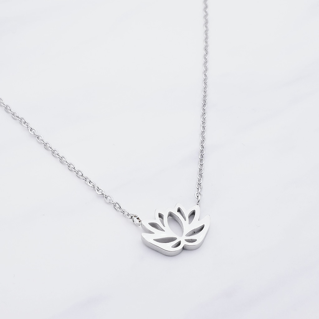 Lotus Kette Silber