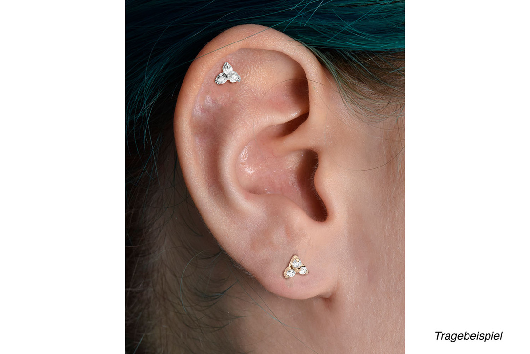 Piercing Crystal Gold