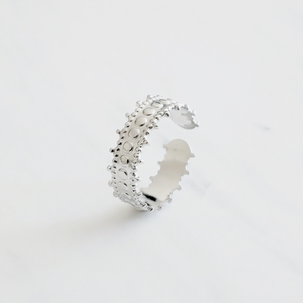 Beach Ring Silber
