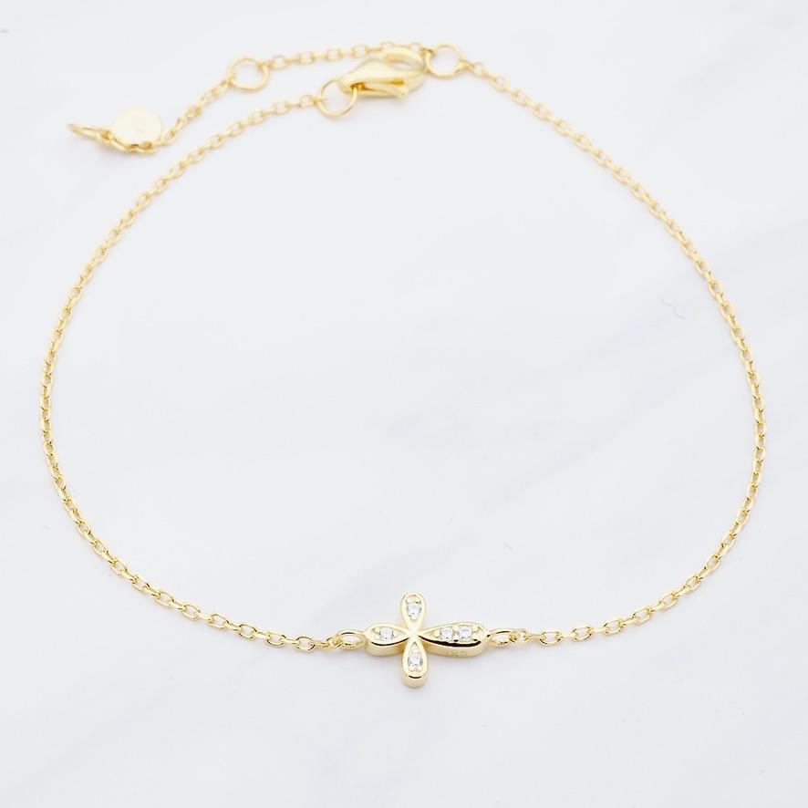 Kreuz Armband Gold