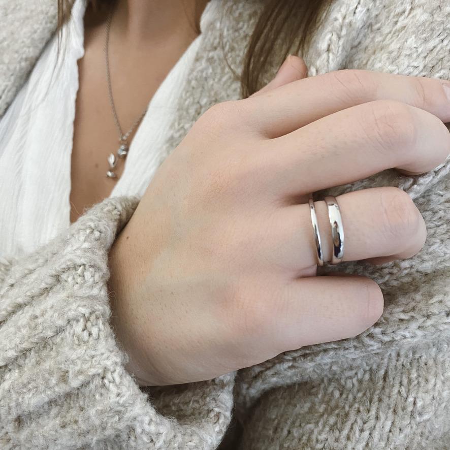Malia Ring Silber