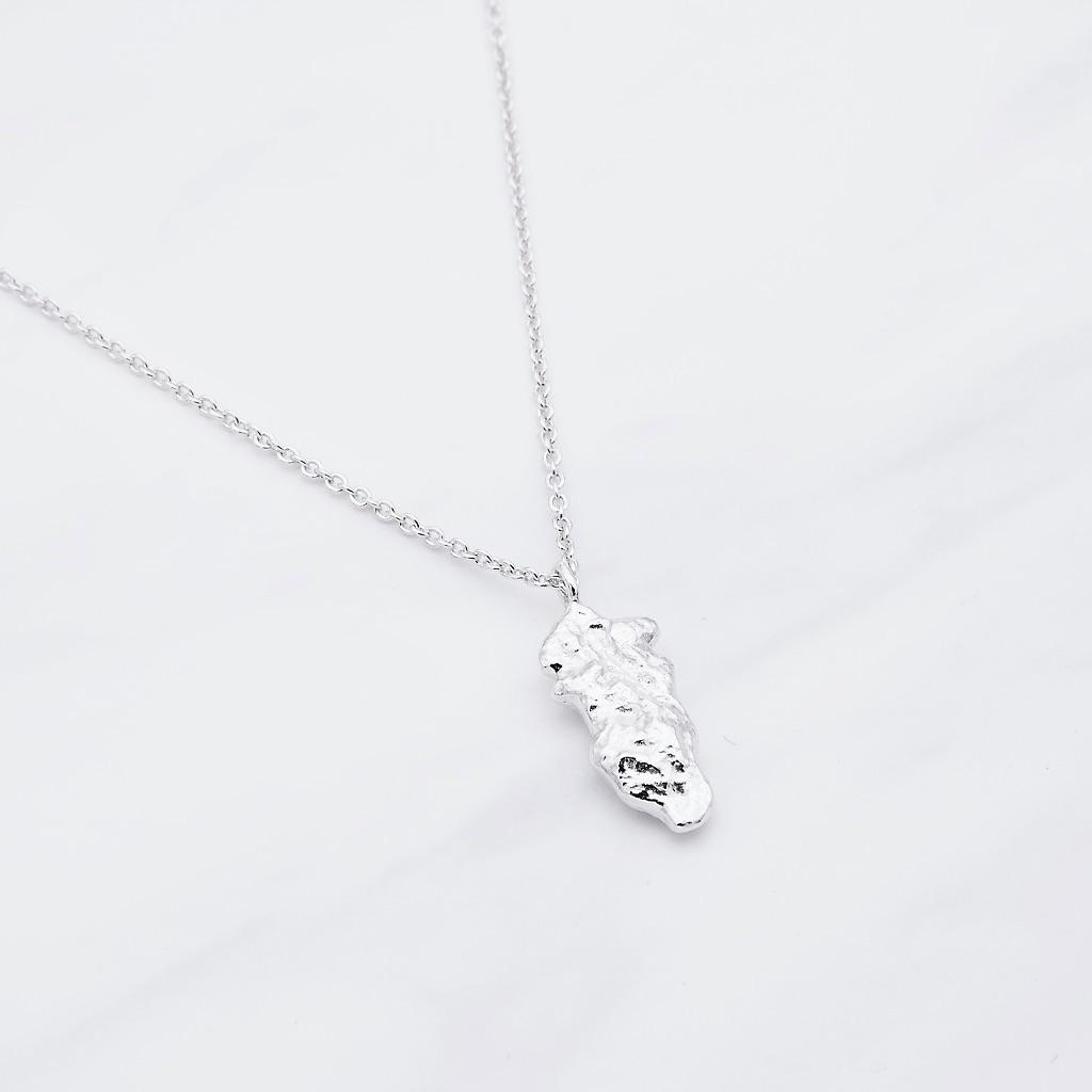 Nugget Kette Silber