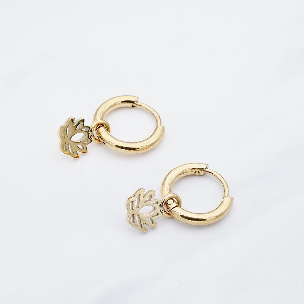 Lotus Ohrring Gold