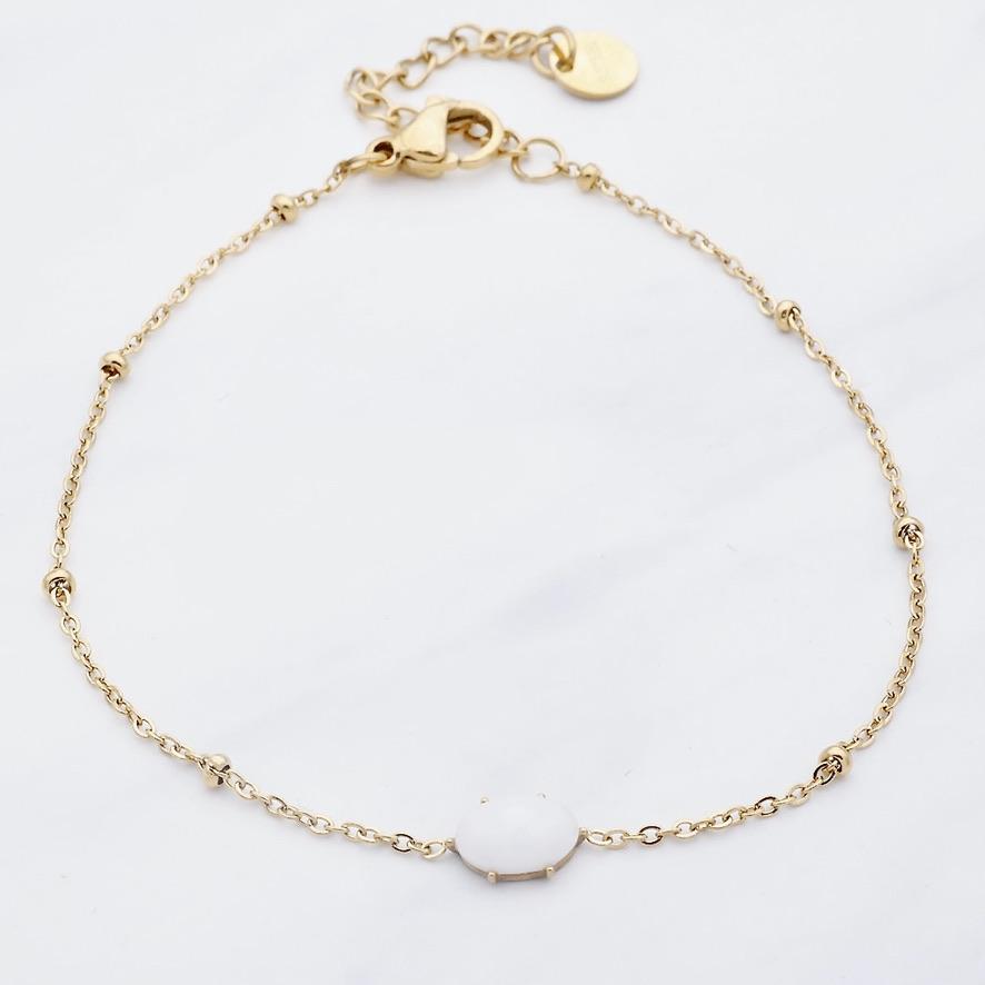 White Sun Armband Gold