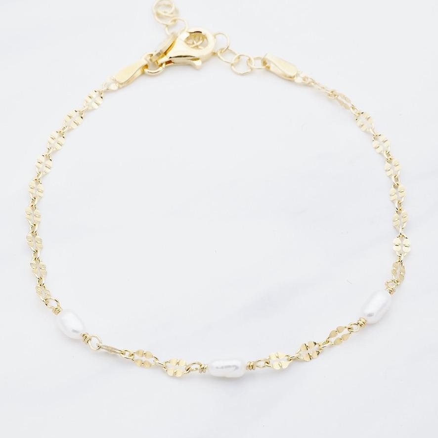 Perlen Armband Gold