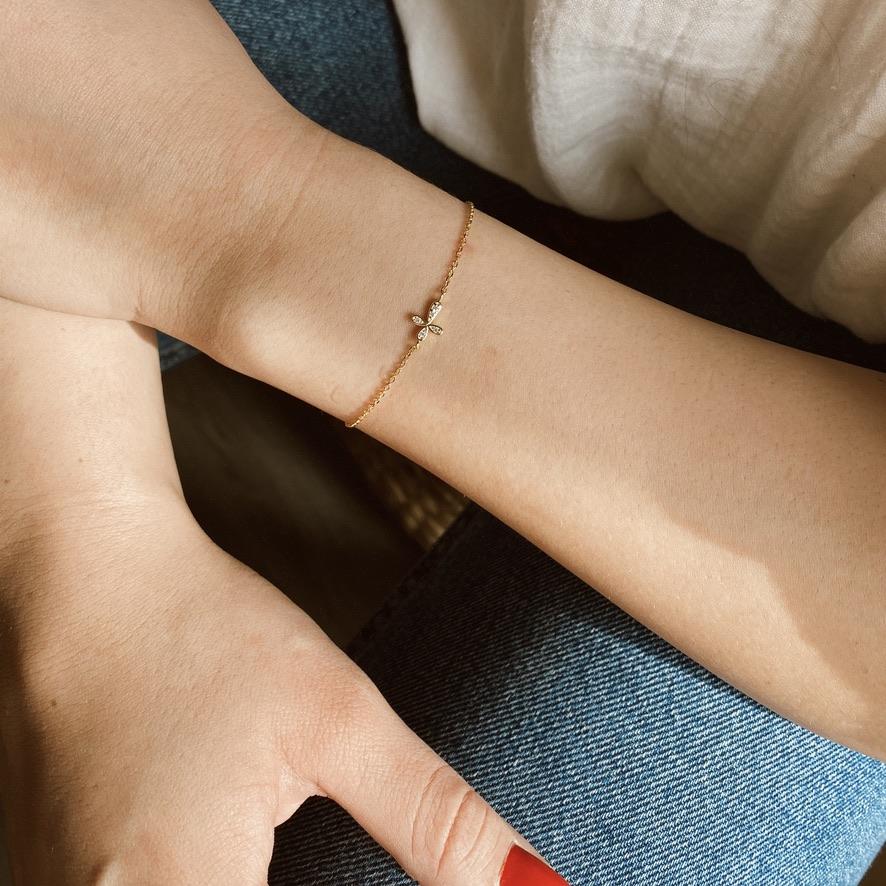 Kreuz Armband Rosé