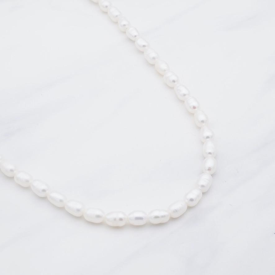 Perlen Halskette Silber