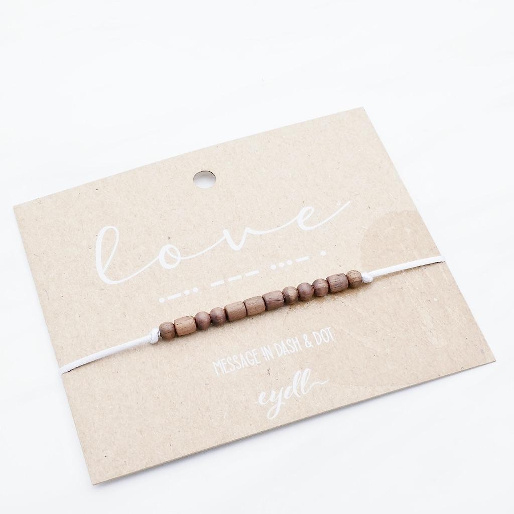 Love Armband aus Holz