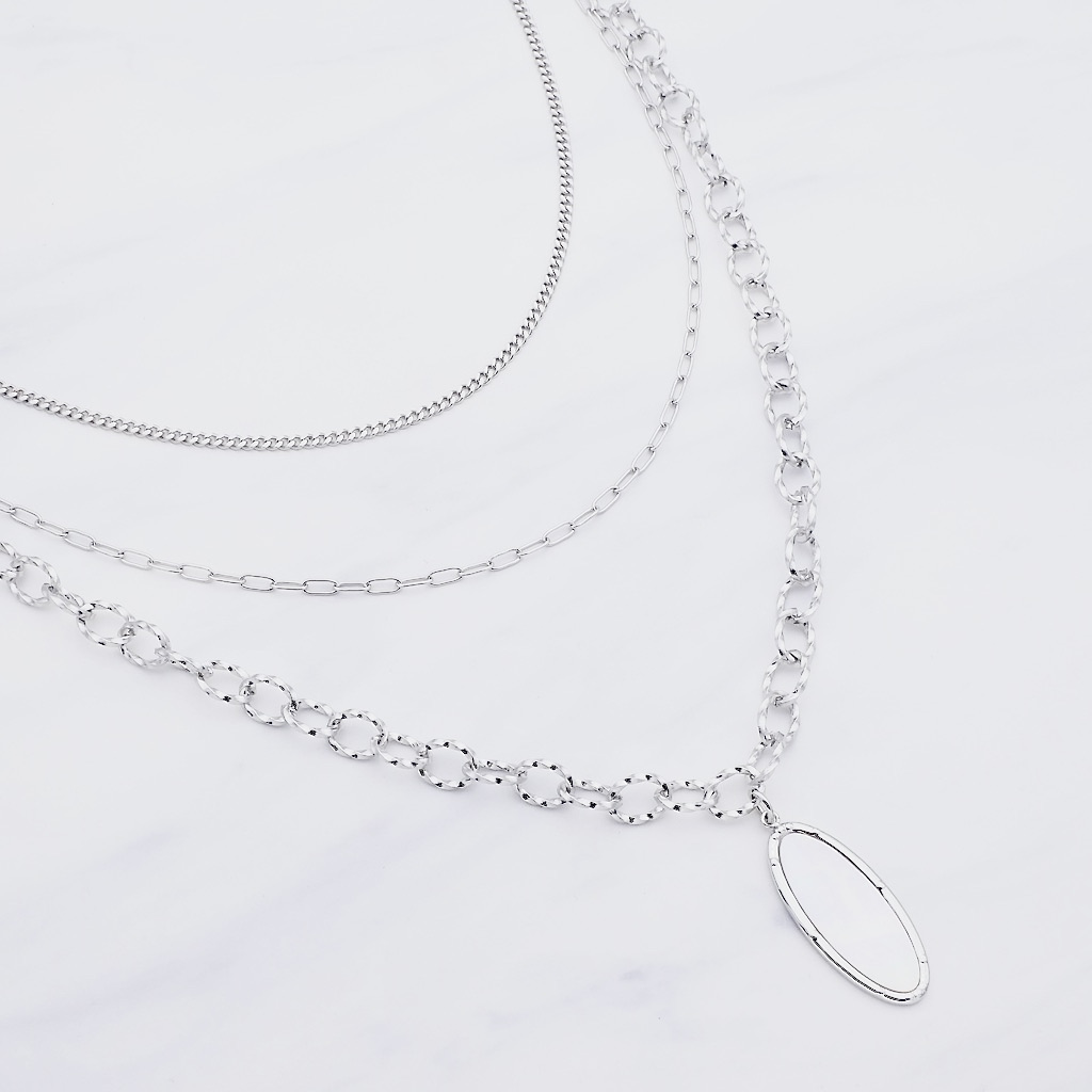 Selena Layer Halskette Silber