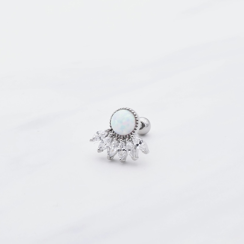 Piercing Opal Silber