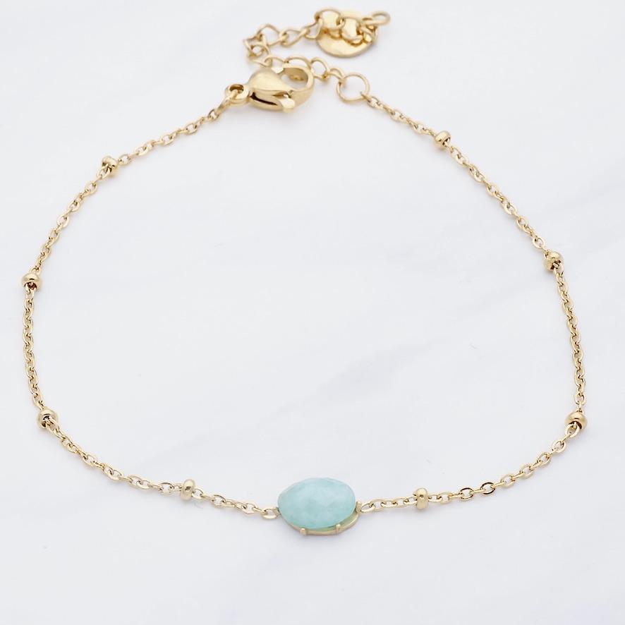 Blue Sun  Armband Gold