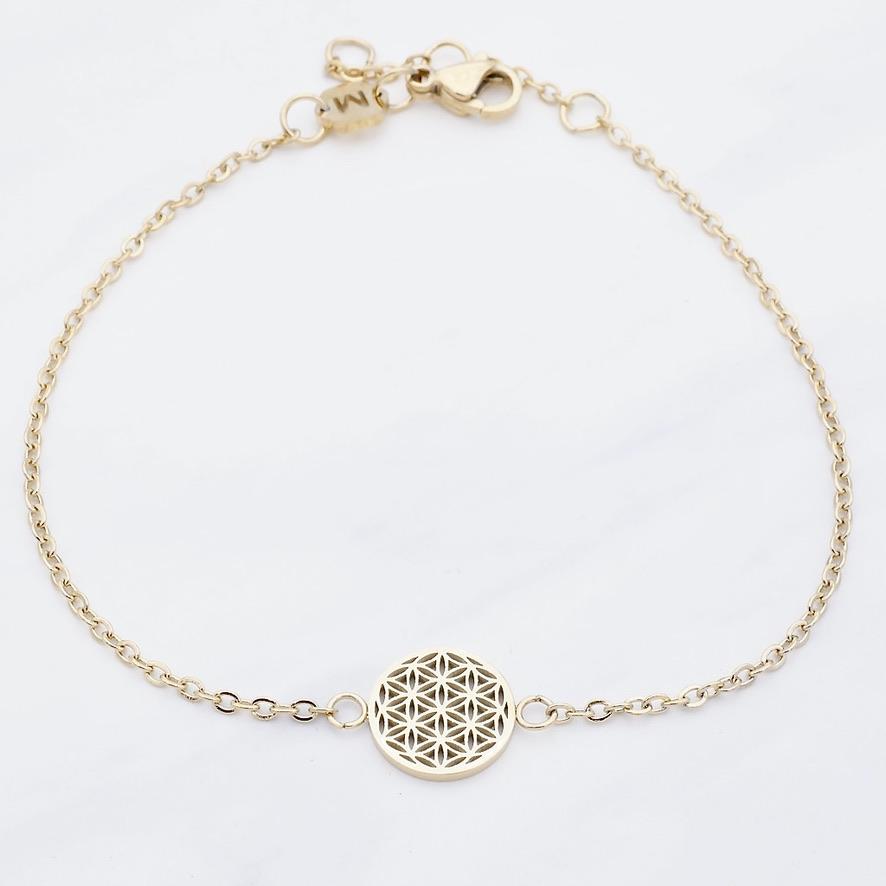 Blume des Lebens Armband Gold