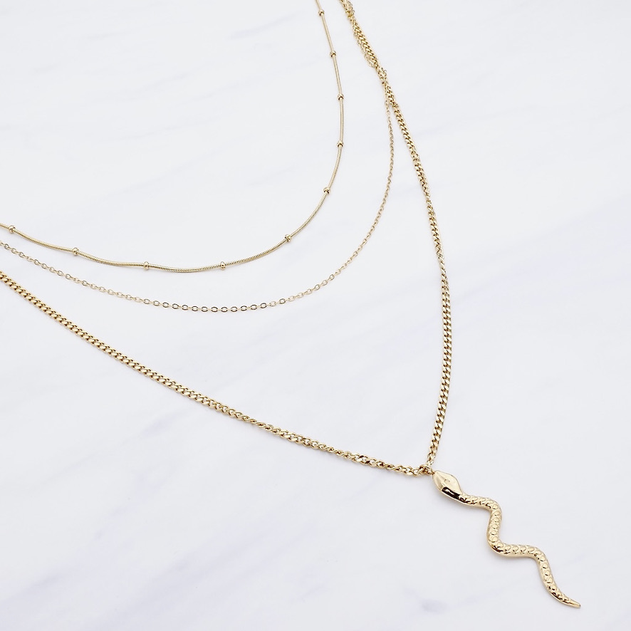 Amiyah Layer Kette Gold