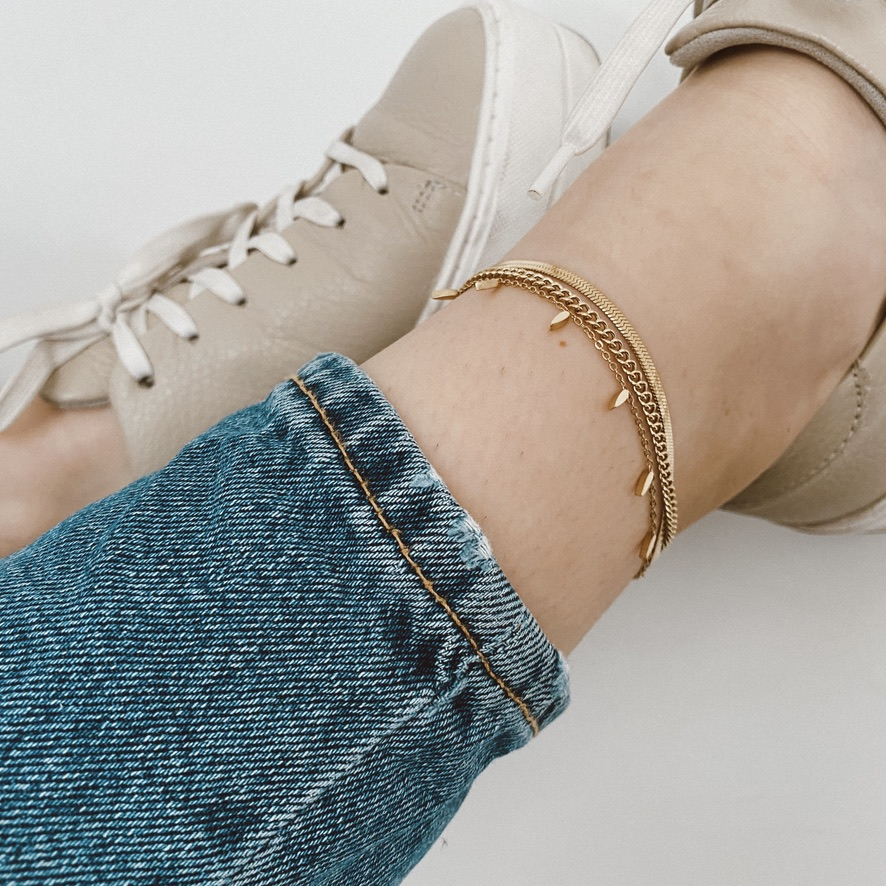 Alexa Fußkette Gold