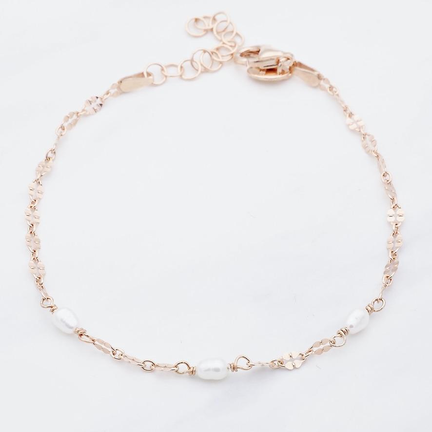 Perlen Armband Rosé