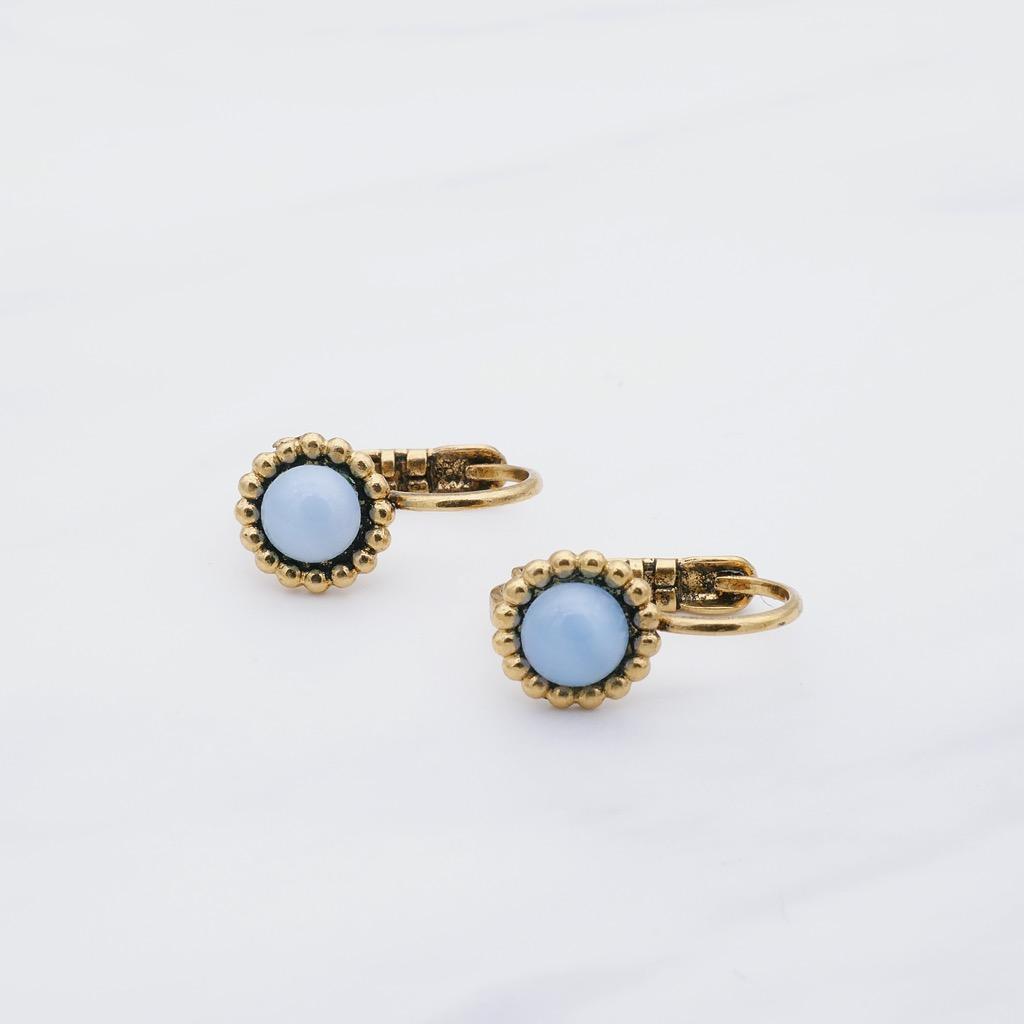 Blue Ohrring