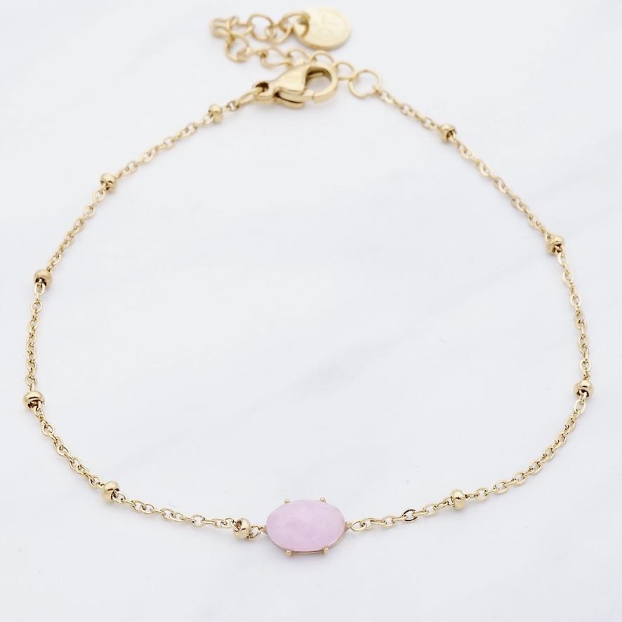 Pink Sun  Armband Gold