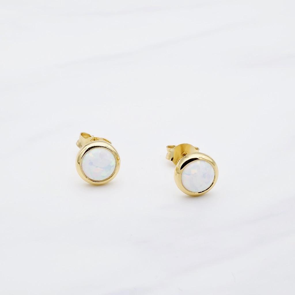 Opal Ohrstecker Gold