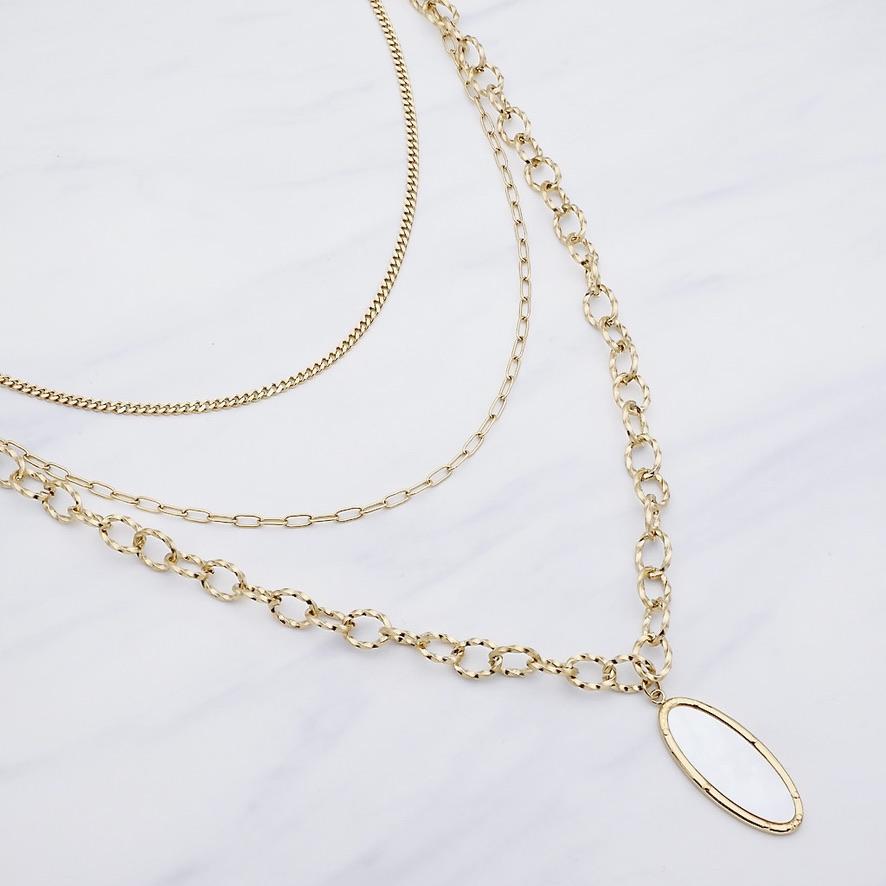 Selena Layer Halskette Gold