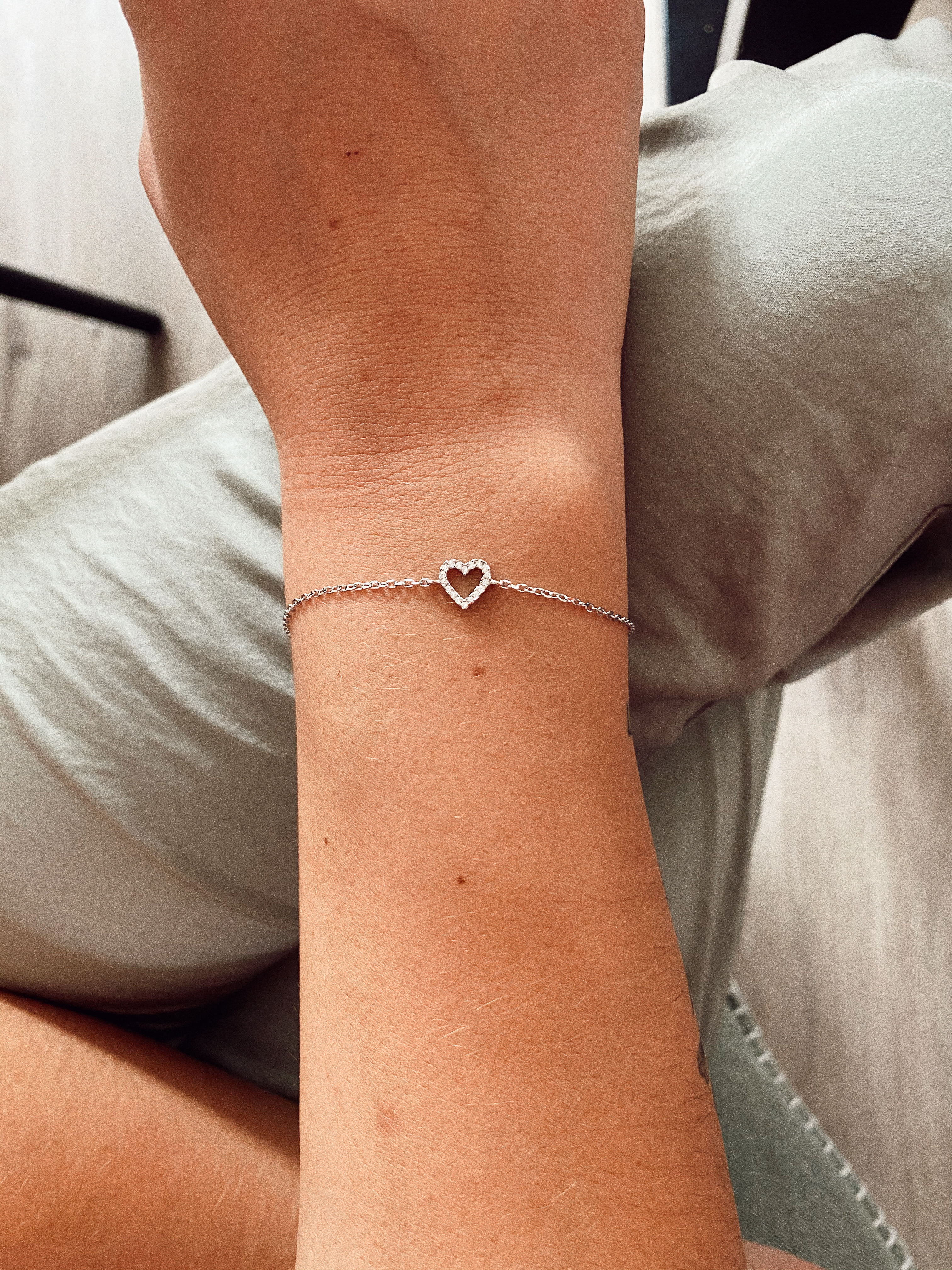 Herz Armband Silber