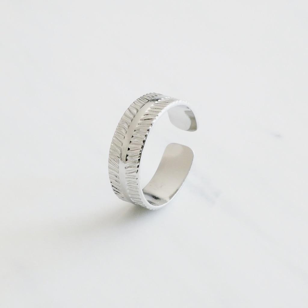 Leaf Ring Silber