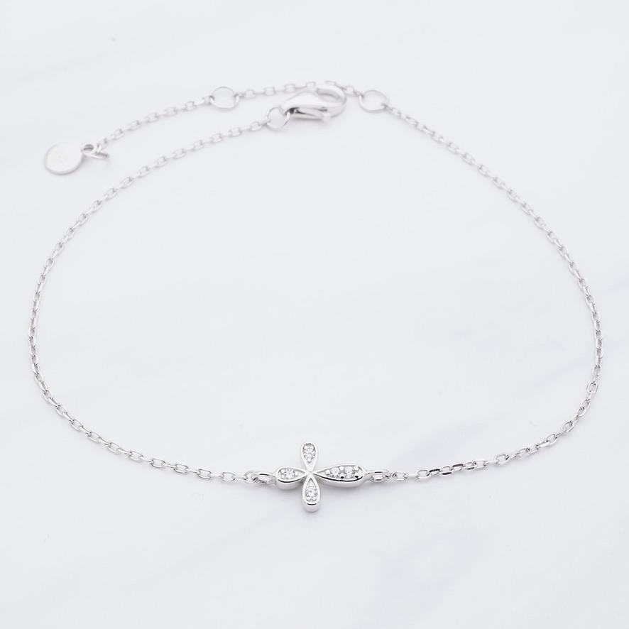 Kreuz Armband Silber