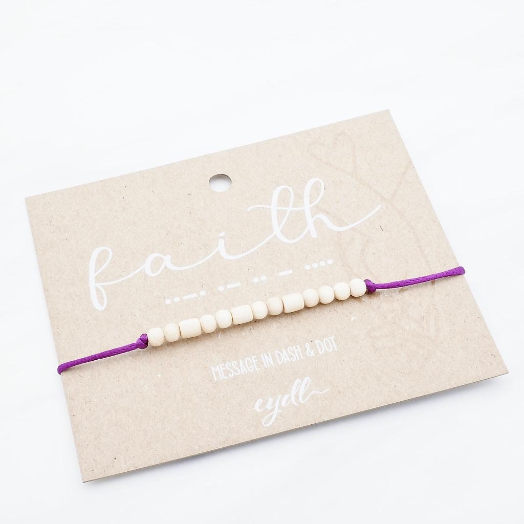 Faith  Armband aus Holz