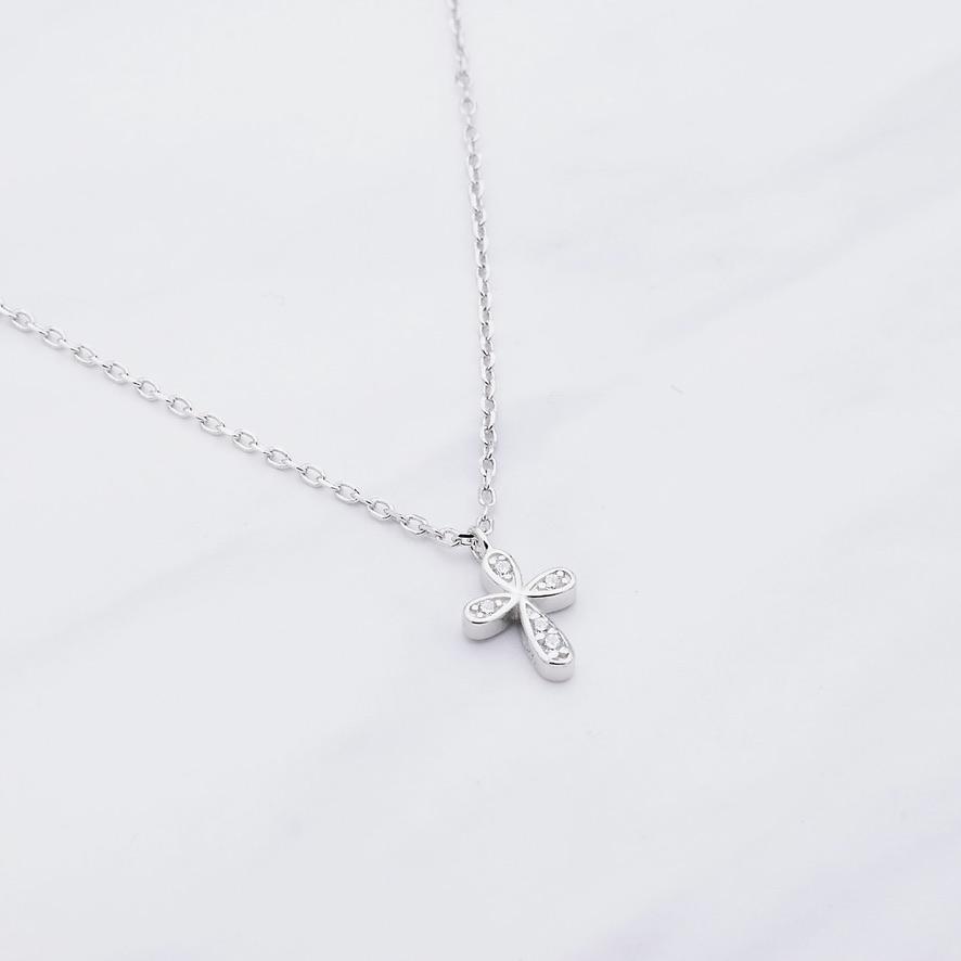 Kreuz Kette Silber