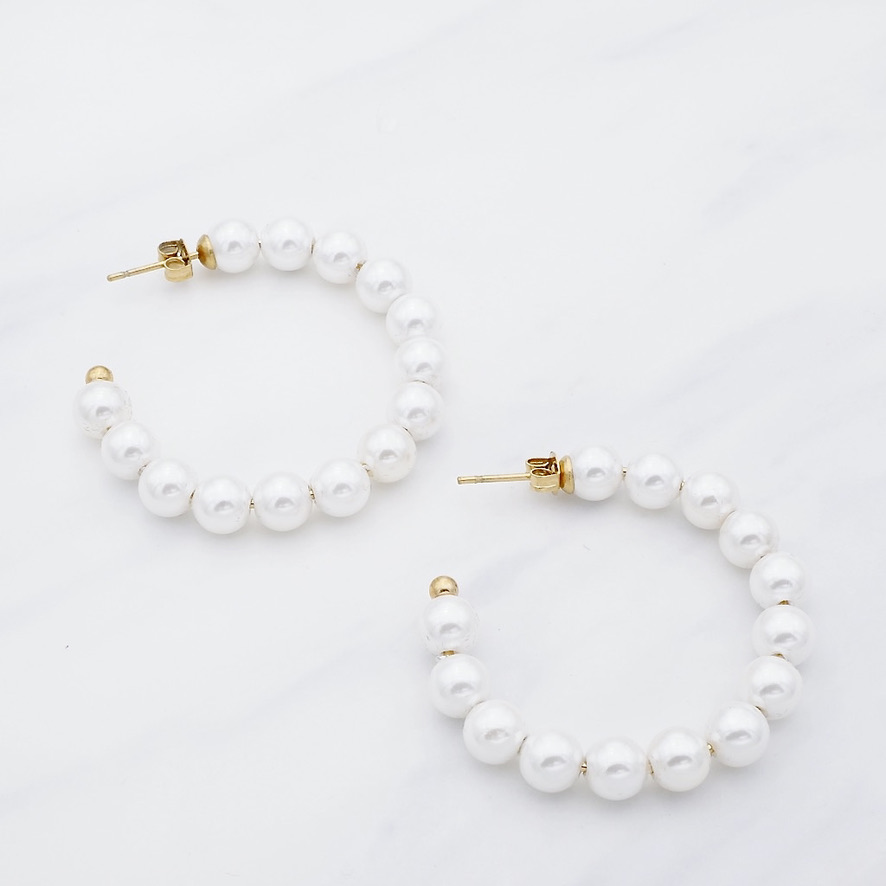 Perlen Creole Gold
