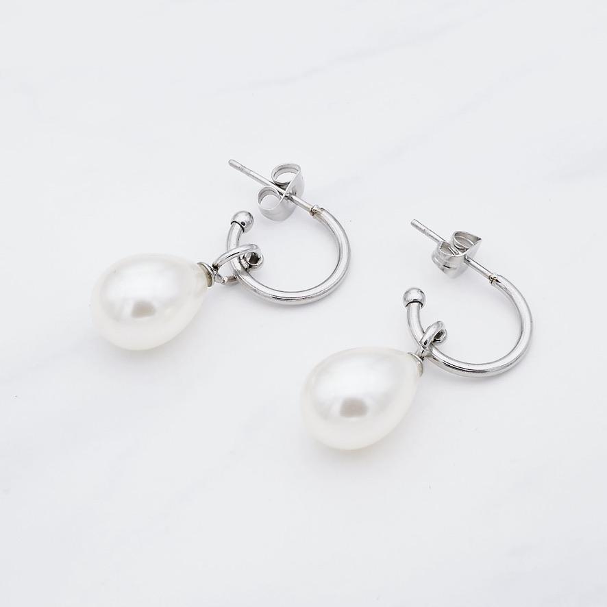 Perlen Creole Silber