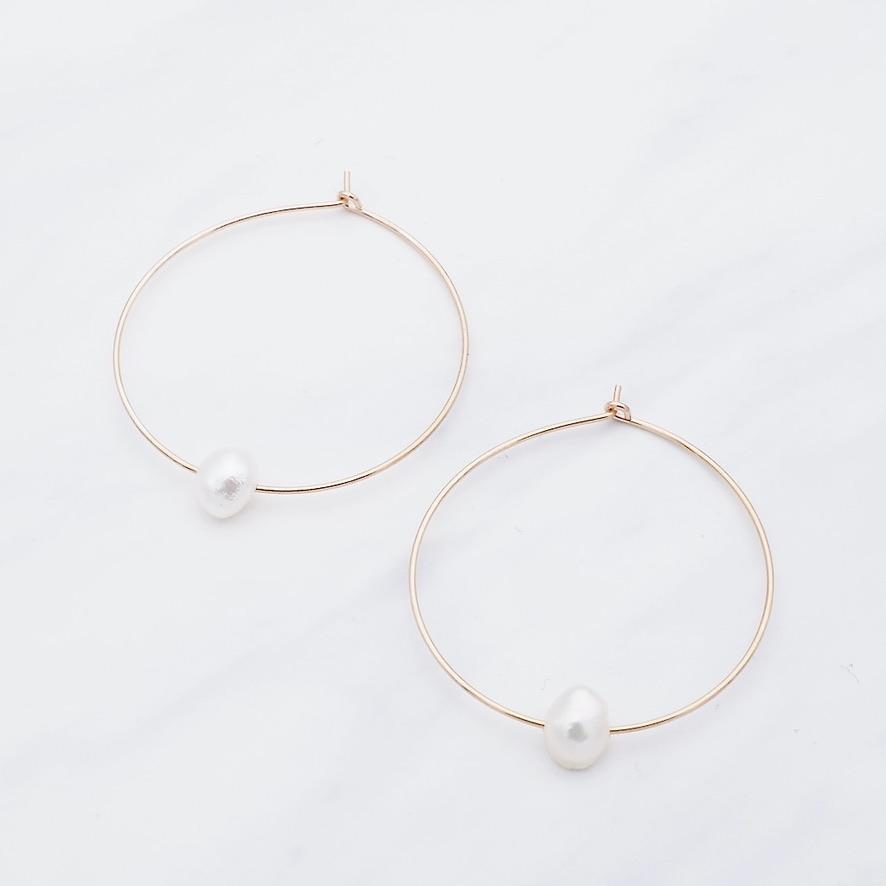 Perlen Ohrring Rosé