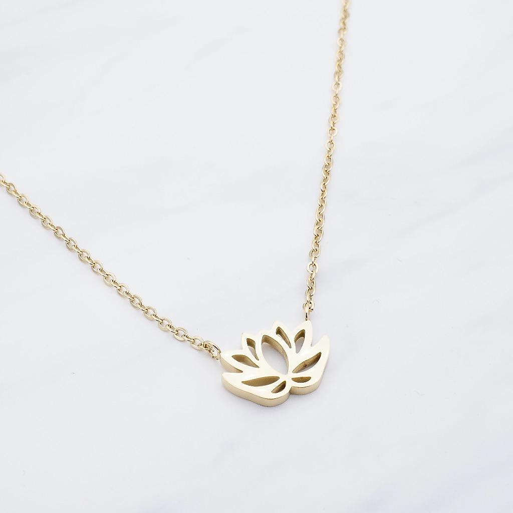 Lotus Kette Gold