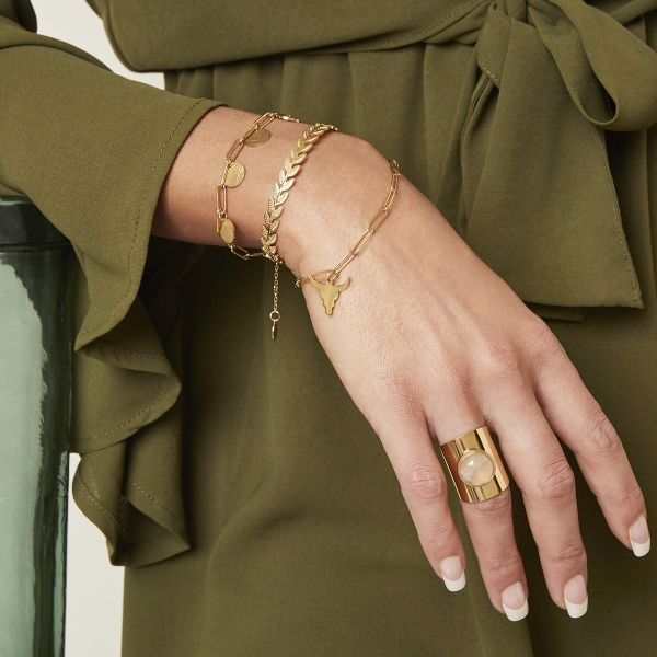 Bull Armband Gold