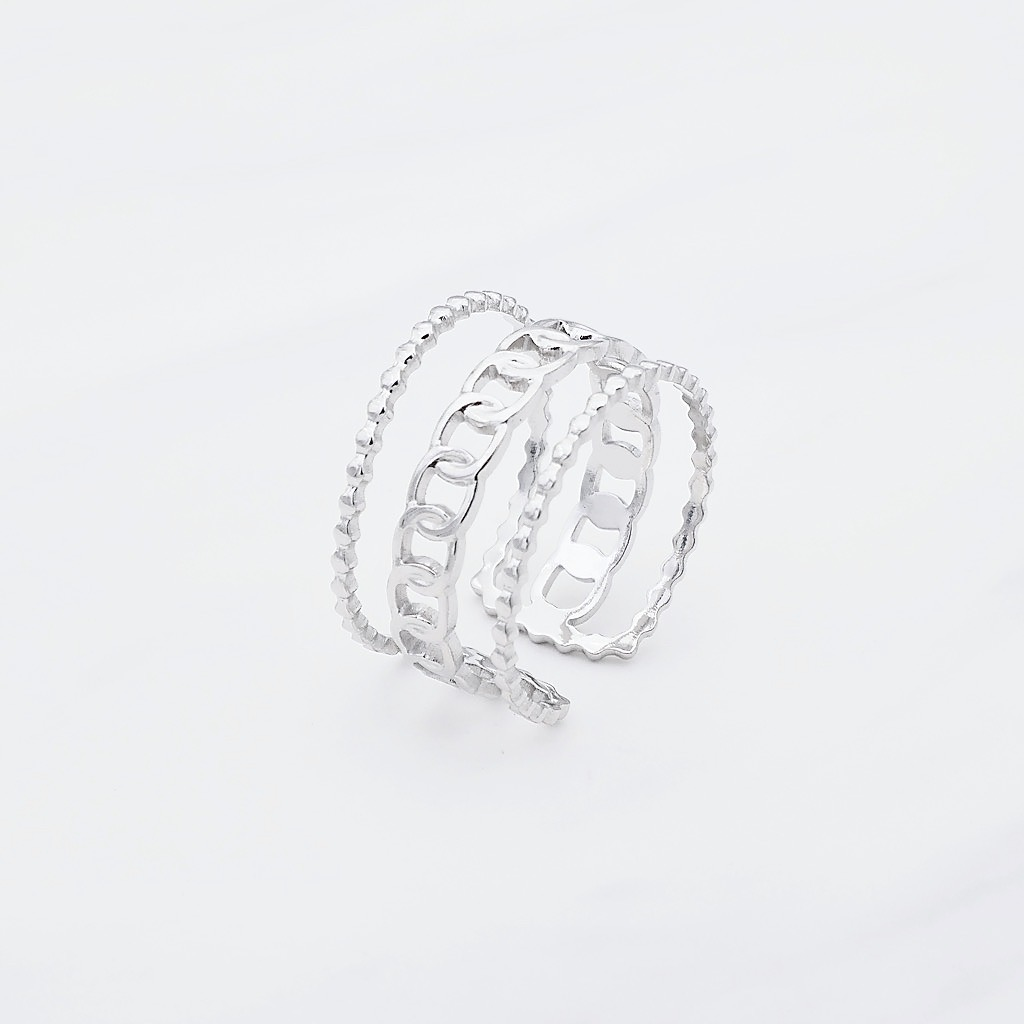 Trible Ring Silber