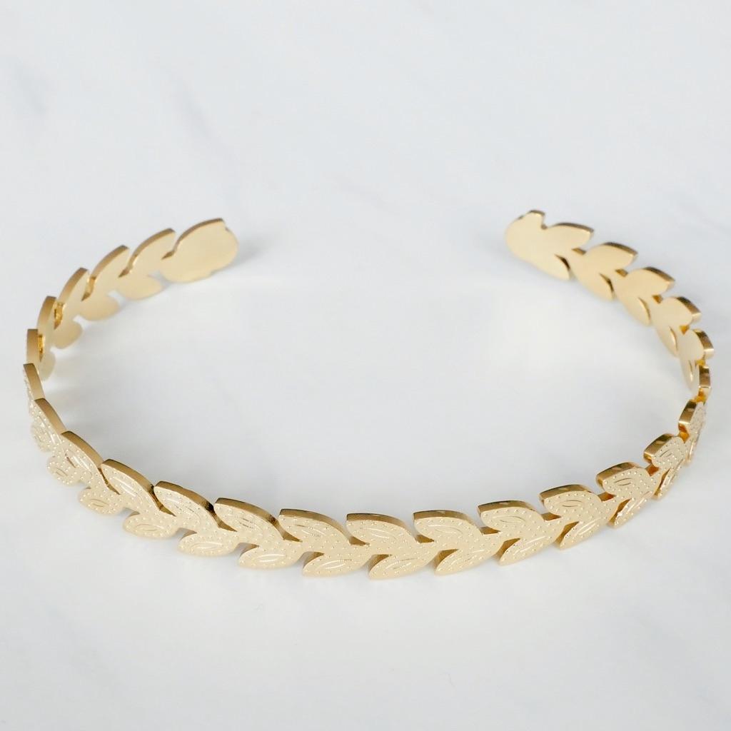 Leaf Armreif  Gold