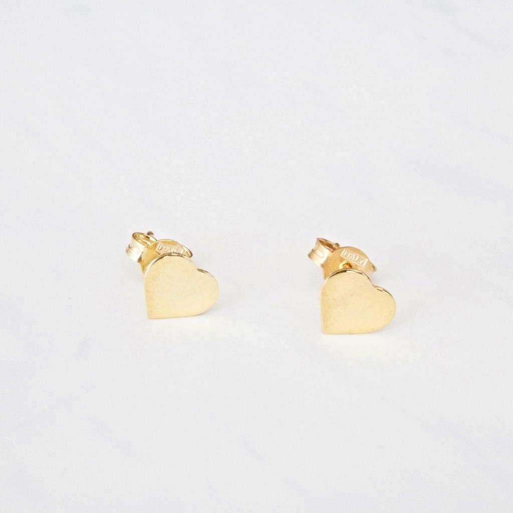 Herz Ohrring Gold