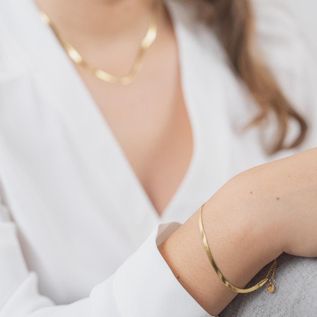 Sleek Armband Gold