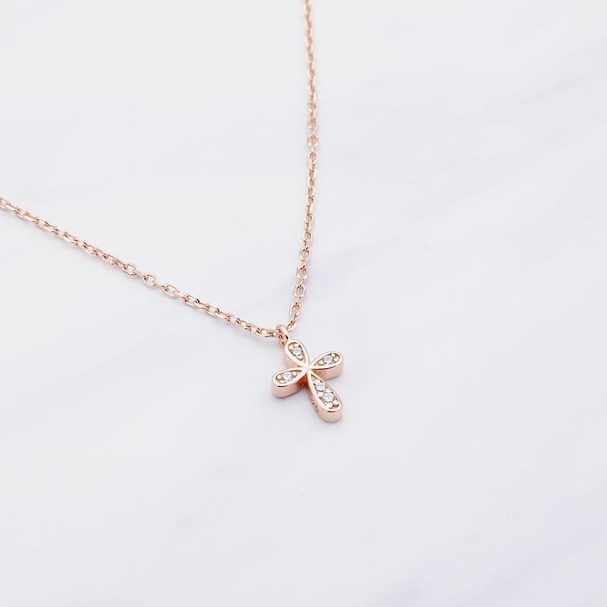 Kreuz Kette Rosé