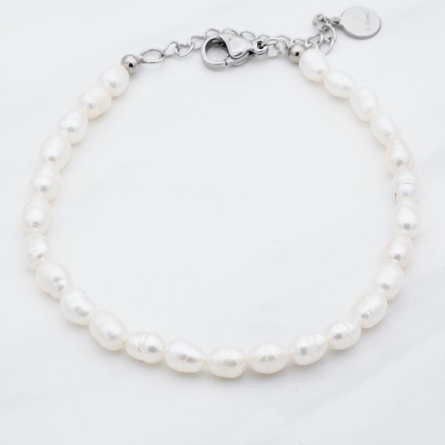 Perlen Armband  Silber