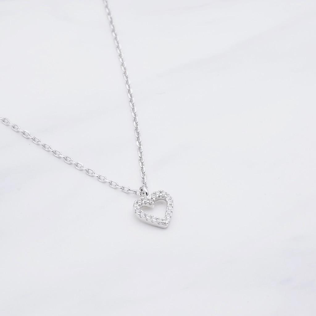 Herz Kette Silber