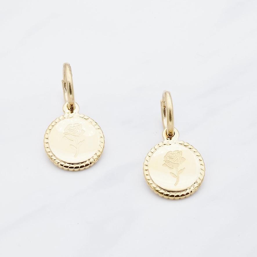 Rosen Ohrring Gold