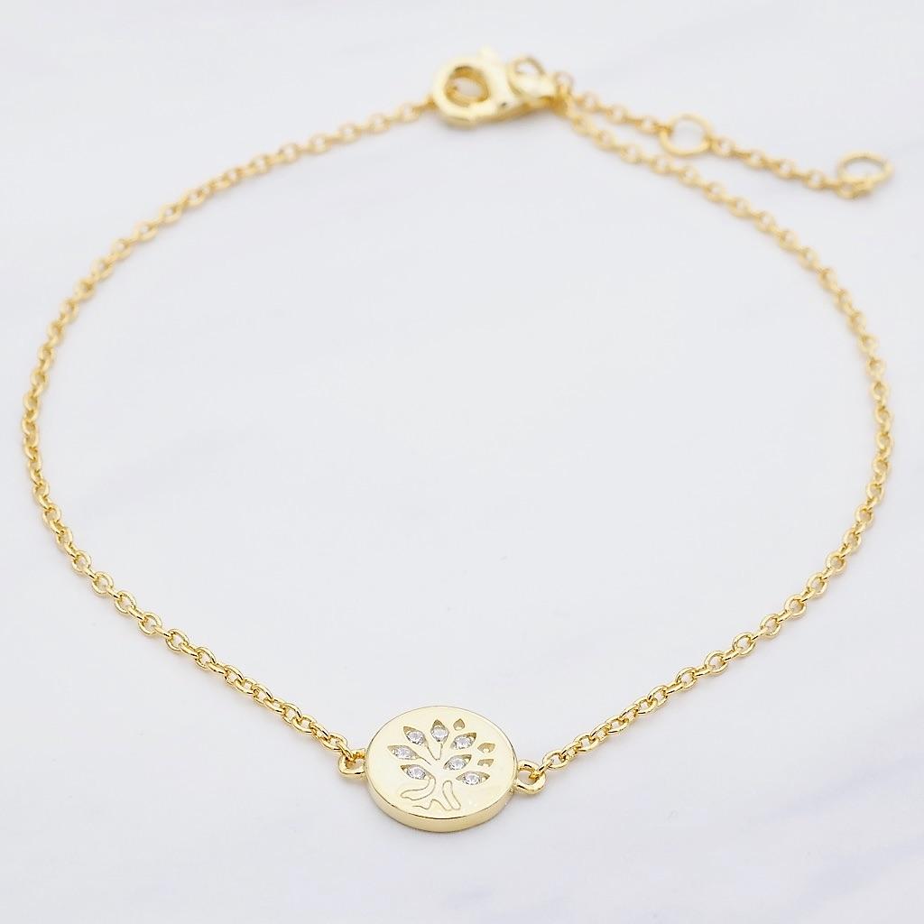 Lebensbaum Armband Gold