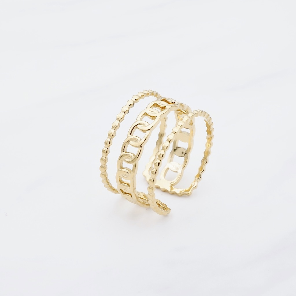 Trible Ring Gold